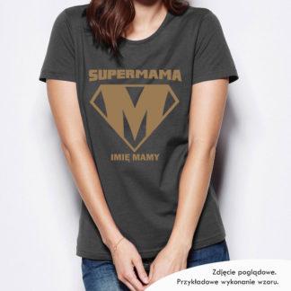 """Koszulka na Dzień Matki """"SUPERMAMA"""" z imieniem Mamy"""