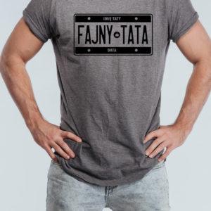 """Koszulka na Dzień Ojca """"FAJNY TATA"""" z imieniem Taty"""
