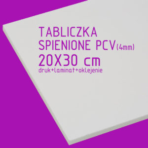 tabliczka za spienionego pcv 20x30 cm