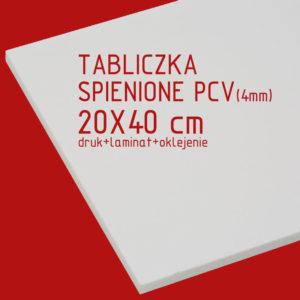 tabliczka za spienionego pcv 20x40 cm