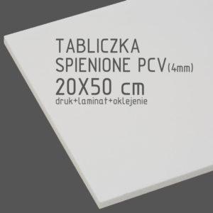 tabliczka za spienionego pcv 20x50 cm