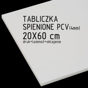 tabliczka za spienionego pcv 20x60 cm