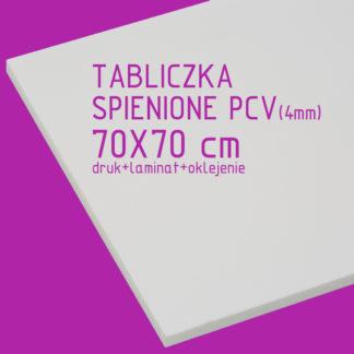 Tabliczka ze spienionego PCV (4mm) 70×70 cm druk laminat oklejenie