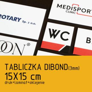 Tabliczka DIBOND (3mm) 15x15cm druk laminat oklejenie