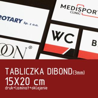 Tabliczka DIBOND (3mm) 15×20 cm druk laminat oklejenie
