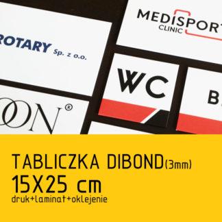 Tabliczka DIBOND (3mm) 15×25 cm druk laminat oklejenie