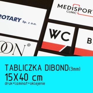 Tabliczka DIBOND (3mm) 15×40 cm druk laminat oklejenie