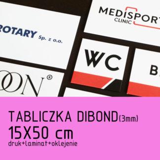 Tabliczka DIBOND (3mm) 15×50 cm druk laminat oklejenie