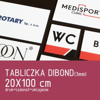 Tabliczka DIBOND (3mm) 20×100 cm druk laminat oklejenie