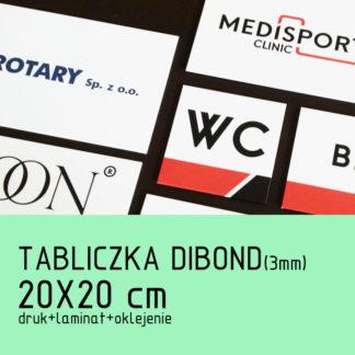 Tabliczka DIBOND (3mm) 20x20cm druk laminat oklejenie