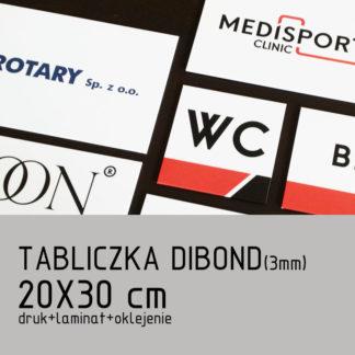 Tabliczka DIBOND (3mm) 20×30 cm druk laminat oklejenie