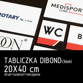 Tabliczka DIBOND (3mm) 20×40 cm druk laminat oklejenie