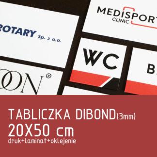 Tabliczka DIBOND (3mm) 20×50 cm druk laminat oklejenie