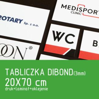 Tabliczka DIBOND (3mm) 20×70 cm druk laminat oklejenie