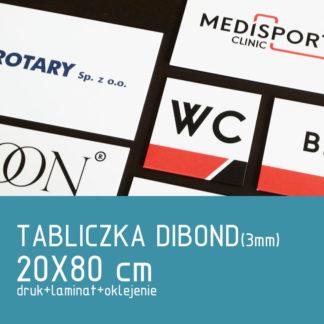 Tabliczka DIBOND (3mm) 20×80 cm druk laminat oklejenie