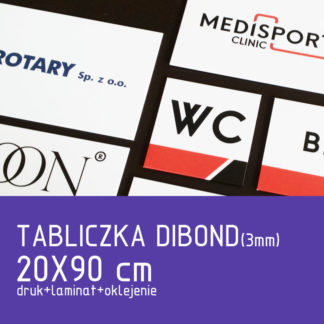 Tabliczka DIBOND (3mm) 20×90 cm druk laminat oklejenie