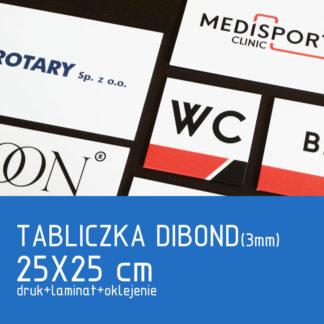Tabliczka DIBOND (3mm) 25x25cm druk laminat oklejenie