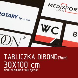 Tabliczka DIBOND (3mm) 30×100 cm druk laminat oklejenie