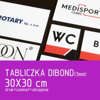 Tabliczka DIBOND (3mm) 30×30 cm druk laminat oklejenie