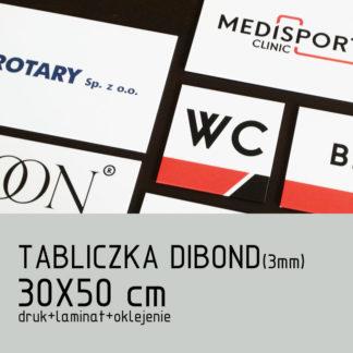 Tabliczka DIBOND (3mm) 30×50 cm druk laminat oklejenie