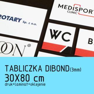 Tabliczka DIBOND (3mm) 30×80 cm druk laminat oklejenie