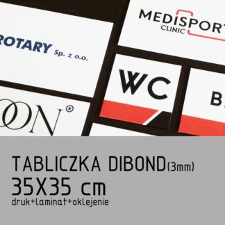 Tabliczka DIBOND (3mm) 35×35 cm druk laminat oklejenie