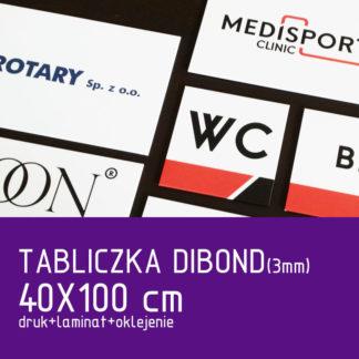 Tabliczka DIBOND (3mm) 40×100 cm druk laminat oklejenie
