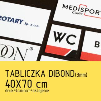 Tabliczka DIBOND (3mm) 40×70 cm druk laminat oklejenie