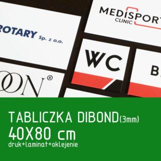 Tabliczka DIBOND (3mm) 40×80 cm druk laminat oklejenie