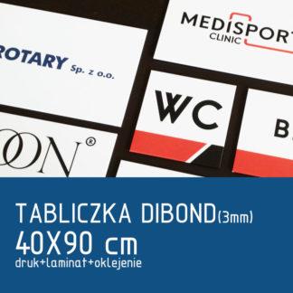 Tabliczka DIBOND (3mm) 40×90 cm druk laminat oklejenie