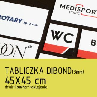 Tabliczka DIBOND (3mm) 45×45 cm druk laminat oklejenie