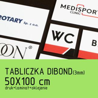 Tabliczka DIBOND (3mm) 50×100 cm druk laminat oklejenie