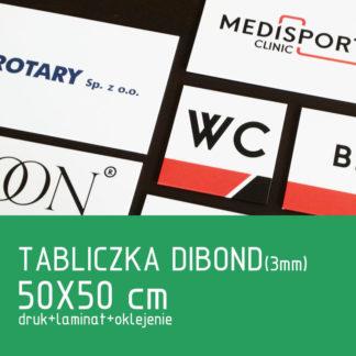 Tabliczka DIBOND (3mm) 50×50 cm druk laminat oklejenie