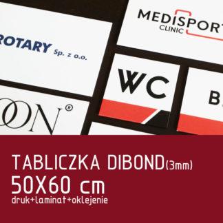 Tabliczka DIBOND (3mm) 50×60 cm druk laminat oklejenie
