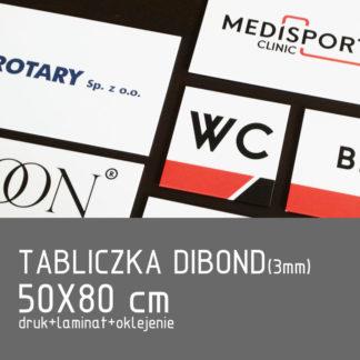 Tabliczka DIBOND (3mm) 50×80 cm druk laminat oklejenie