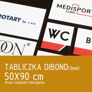 Tabliczka DIBOND (3mm) 50×90 cm druk laminat oklejenie
