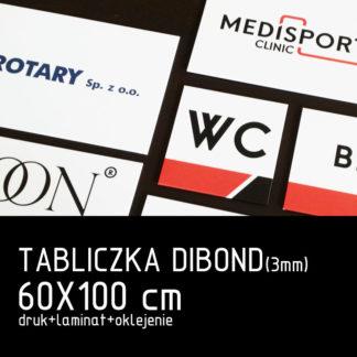 Tabliczka DIBOND (3mm) 60×100 cm druk laminat oklejenie