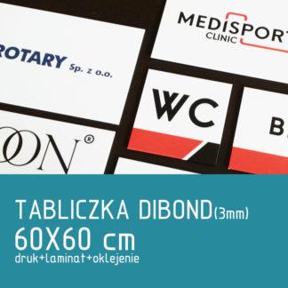 Tabliczka DIBOND (3mm) 60×60 cm druk laminat oklejenie