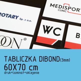 Tabliczka DIBOND (3mm) 60×70 cm druk laminat oklejenie