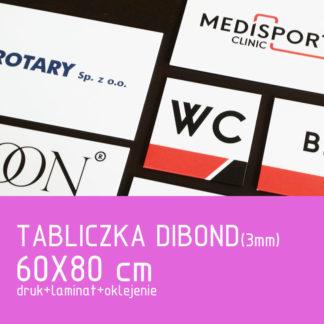 Tabliczka DIBOND (3mm) 60×80 cm druk laminat oklejenie