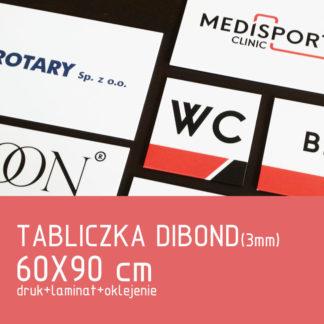 Tabliczka DIBOND (3mm) 60×90 cm druk laminat oklejenie