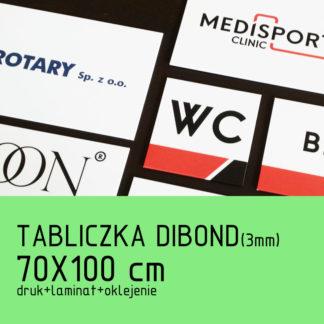 Tabliczka DIBOND (3mm) 70×100 cm druk laminat oklejenie