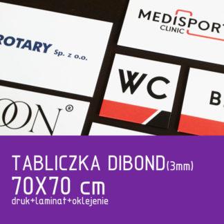 Tabliczka DIBOND (3mm) 70×70 cm druk laminat oklejenie