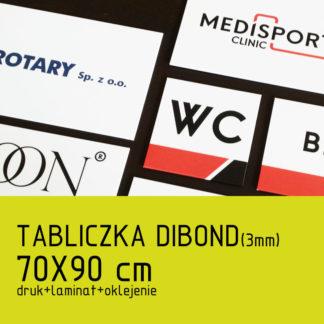 Tabliczka DIBOND (3mm) 70×90 cm druk laminat oklejenie