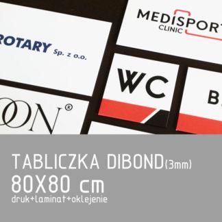 Tabliczka DIBOND (3mm) 80×80 cm druk laminat oklejenie