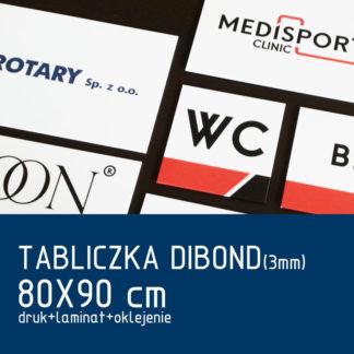 Tabliczka DIBOND (3mm) 80×90 cm druk laminat oklejenie