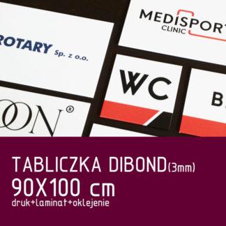 Tabliczka DIBOND (3mm) 90×100 cm druk laminat oklejenie
