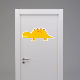 Naklejka na drzwi/meble DINOZAUR KROKODYL żółty