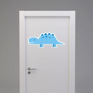 Naklejka na drzwi/meble DINOZAUR KROKODYL jasno niebieski