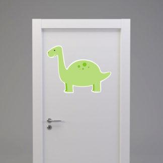 Naklejka na drzwi/meble DINOZAUR Z DŁUGĄ SZYJĄ jasno zielony